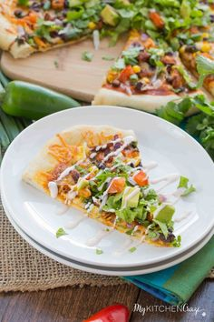 Wanna spice up pizza night? Then you need to make this Chicken Taco Pizza. Loaded with all the flavorings and vegetables you'd put in your tacos, now on a yummy pizza. The family will be thanking you!!