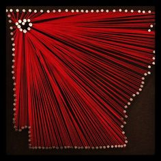 Love of Arkansas// Nail and String Art by msrbrown7 on Etsy, via Etsy.