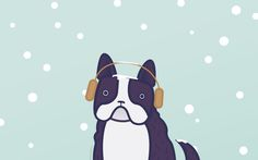 January 2015 Cold Boston Terrier by Katie Werges from Atomicdust
