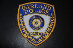 Garland Police Patch, Dallas County, Texas