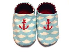 Nautical Anchor Baby Boy Shoes Baby Booties Baby by ShoesbySusie, $22.00