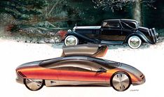 Buick design sketch render illustration by gray counts Conceptual Drawing, Conceptual Design, Car Design Sketch, Car Sketch, Candy Car, Bugatti Type 57, Buick Cars, Ford Tractors, Old Fords