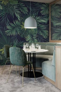 The beauty of tropical leaves • Colonial - Living room - Nature #forest #forestbathing #wallmural #mistery #awesome #Pixers #walldecor #wallideas #interior #design