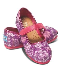 Look at this #zulilyfind! Floral Flurry Mary Jane - Tiny by TOMS #zulilyfinds