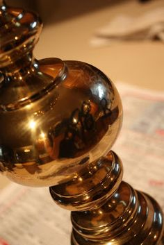 Sweet Something Designs: Brass Lamp Makeover