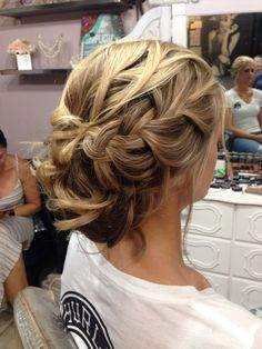 Textured bridal updo
