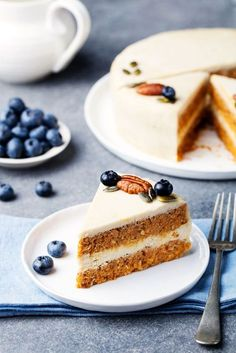 Raw Carrot Cake with Lemon Cashew Frosting Recipe (vegan, dairy-free, gluten-free, grain-free, plant-based and paleo-friendly)