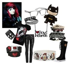 """""""BVB ARMY"""" by blood-soaked-alice ❤ liked on Polyvore featuring Yves Saint Laurent, claire's and Disney"""