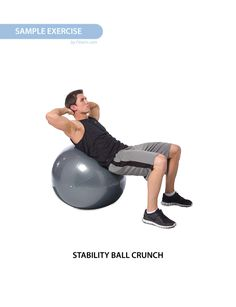 5 Best Abs and Core Exercises With a Stability Ball for Men-Strengthen your core, sculpt your abs with this stability workout. Exercising on the ball has shown to activate more muscles than when done on a stable surface. Give this workout a try. Abs Workout Video, Abs Workout Routines, Abs Workout For Women, Ab Workout At Home, Ball Workouts, Workout Videos For Women, Workout For Beginners, Stability Ball Exercises, Core Stability