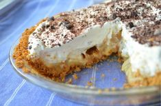 This delicious and easy banoffee pie uses reduced sweetened condensed milk for the toffee. Graham cracker crust, toffee, bananas, cream!