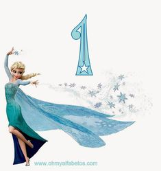 Frozen: Alfabeto de Elsa.   Oh my Alfabetos!