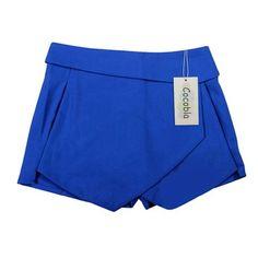 Tiered Shorts Irregular Zipper Trousers Culottes Short