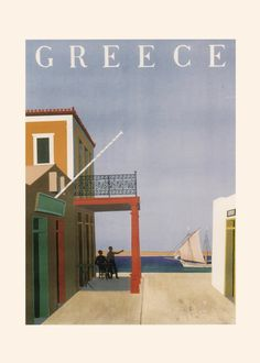 GREECE TRAVEL POSTER Vintage Greece Wall by EncorePrintSociety