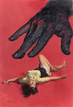 The Corpse With Sticky Fingers, paperback cover, 1952 Lu Kimmel,