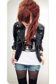 Leather jacket | Yes!! So mah style!! (: