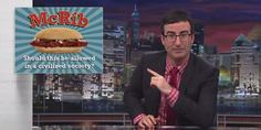 John Oliver Explains Why The Death Penalty Is Like The McRib & It Makes Perfect Sense