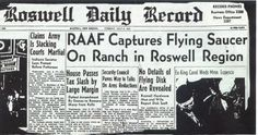 In July 1947, some believe that an aircraft from outer space piloted by aliens crashed in Roswell New Mexico, and that the government covered it up. The secret national base nearby, Area 51 was accused of housing the craft's remains.