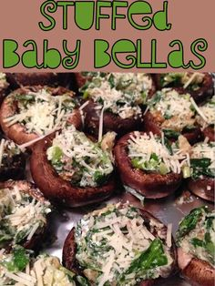 Stuff baby bellas ready for the grill Stuffed Portabello Mushrooms, Grilled Mushrooms, Baby Bella Mushroom Recipes, Cooking With Essential Oils, Clean Eating, Healthy Eating, Summer Recipes, Healthy Recipes, Easy Recipes