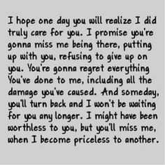 Yes I'm hurt. We fought so much and I'm starting to be fine that you don't wanna talk to me. I love you and I just want you to be happy and not be miserable. I just need to focus on my life and getting things together and you need to get things together and if were meant to be we'll find our way back to eachother.... Whoever wrote that was hurting and it was their whole heart writing that