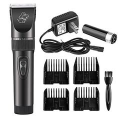 Eachway Low Noise Cordless Cat Dog Grooming Clippers Rechargeable Pet Clipper Kit for Dog Cat and Other House Animals * Check this awesome image @
