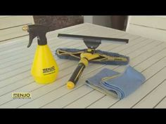 Learn how to clean your windows like a pro in half the time with these few simple steps with ENJO! Cleaning Hacks, Cleaning Supplies, Solar Pannels, Sliding Glass Door, Glass Doors, Outdoor Range, Chemical Free Cleaning, Pool Fence, Window Cleaner