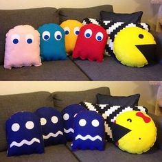 Nerd Crafts, Fun Crafts, Diy And Crafts, Arts And Crafts, Man Pillow, Sewing Crafts, Sewing Projects, Game Room Design, Geek Decor