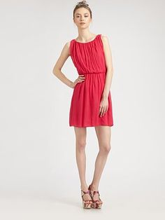 """Alice and Olivia - Mary Blouson Tank Dress  About 19"""" from natural waist"""