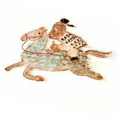 オンダル将軍 #illustration #animal #動物イラスト#民話 #韓国民話 #馬 #horse #将軍