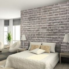 Charcoal Brick Wallpaper from Watts London | Made By Watts | 95.00 | BOUF