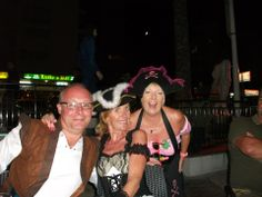 Pirate Salmon, Pirat Jan and me in Benidorm for Andy's 50th