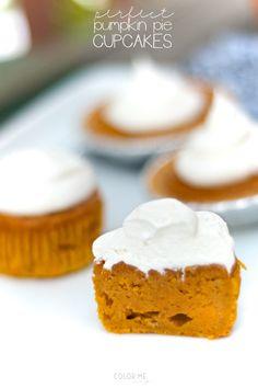 pumpkin pie cupcakes #fall #dessert