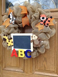 Hey, I found this really awesome Etsy listing at https://www.etsy.com/listing/198829984/classroom-wreath-teacher-wreath-teacher