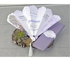 Wedding Invitation Fan Invitation Special Invitation Box
