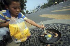 China. Onda de calor.