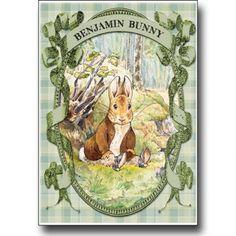 Peter Rabbit - Benjamin Bunny in green on Lish