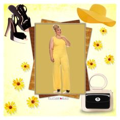 """""""PlusSizeF♥rLess"""" by plussizeforless ❤ liked on Polyvore featuring Accessorize, yellow and plussizeforless"""