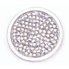 Large Mi Moneda Deluxe White Crystal Coin