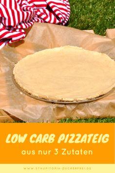 Wie du einen Low Carb Pizzaboden aus nur 3 Zutaten backen kannst! - Staupitopia Zuckerfrei #BestLowCarbMeals Fast Low Carb, Low Carb Keto, Easy Healthy Recipes, Low Carb Recipes, Easy Meals, Low Carb Lunch, Low Carb Breakfast, Low Carb Pizza Base, Law Carb