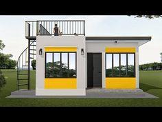 ARKIX3D - YouTube Little House Plans, Small Cottage House Plans, Small Modern House Plans, Small House Floor Plans, Beautiful House Plans, Flat Roof House Designs, House Roof Design, 2 Storey House Design, Small House Design
