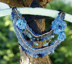 Romantic necklace bohemian necklace gipsy necklace by KingaDesign