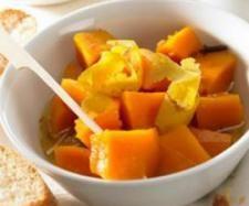 Rezept Kürbis süß-sauer eingelegt von Thermomix Rezeptentwicklung - Rezept der Kategorie Vorspeisen/Salate