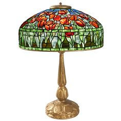 """""""Tulip"""" Tiffany Table Lamp 