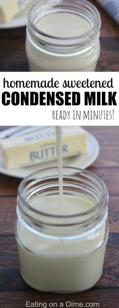 How to make Sweetened Condensed Milk - this is so easy to do and much more frugal than buying it in the store.