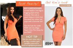 "Get Kim Kardashian's ""Peachy Perfect"" look for under R500 