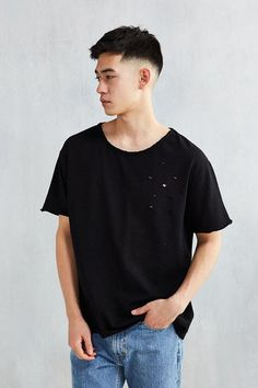 6aa612d9f5d Shop Destroyed Raw Hem Terry Tee at Urban Outfitters today.