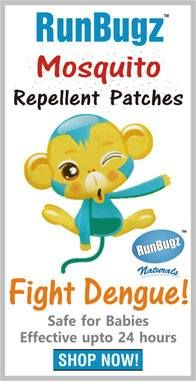 Have you protected your child against Mosquitoes? Don't wait for Dengue. Act now! get Mosquito Patches & Bands. Stay Safe! Always.