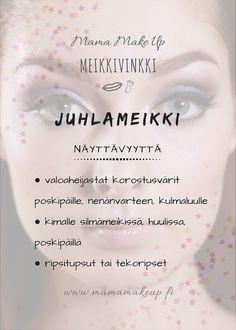 Näyttävyyttä juhlameikkiin Make Up, Personal Care, Eyes, Beauty, Self Care, Personal Hygiene, Makeup, Beauty Makeup, Beauty Illustration