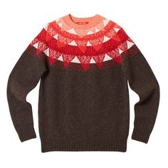 Mountain Peak Sweater - Brown - Donna Wilson