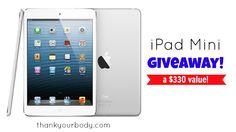 Win an iPad Mini from thankyourbody.com!