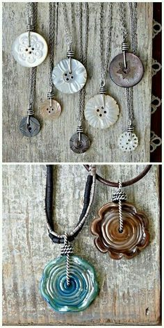 Button necklace                                                       …